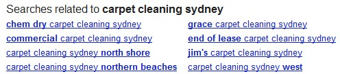Google Related Terms